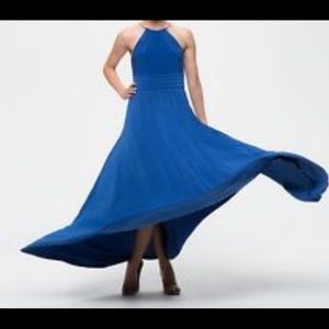 Eliza J royal blue high neck maxi dress